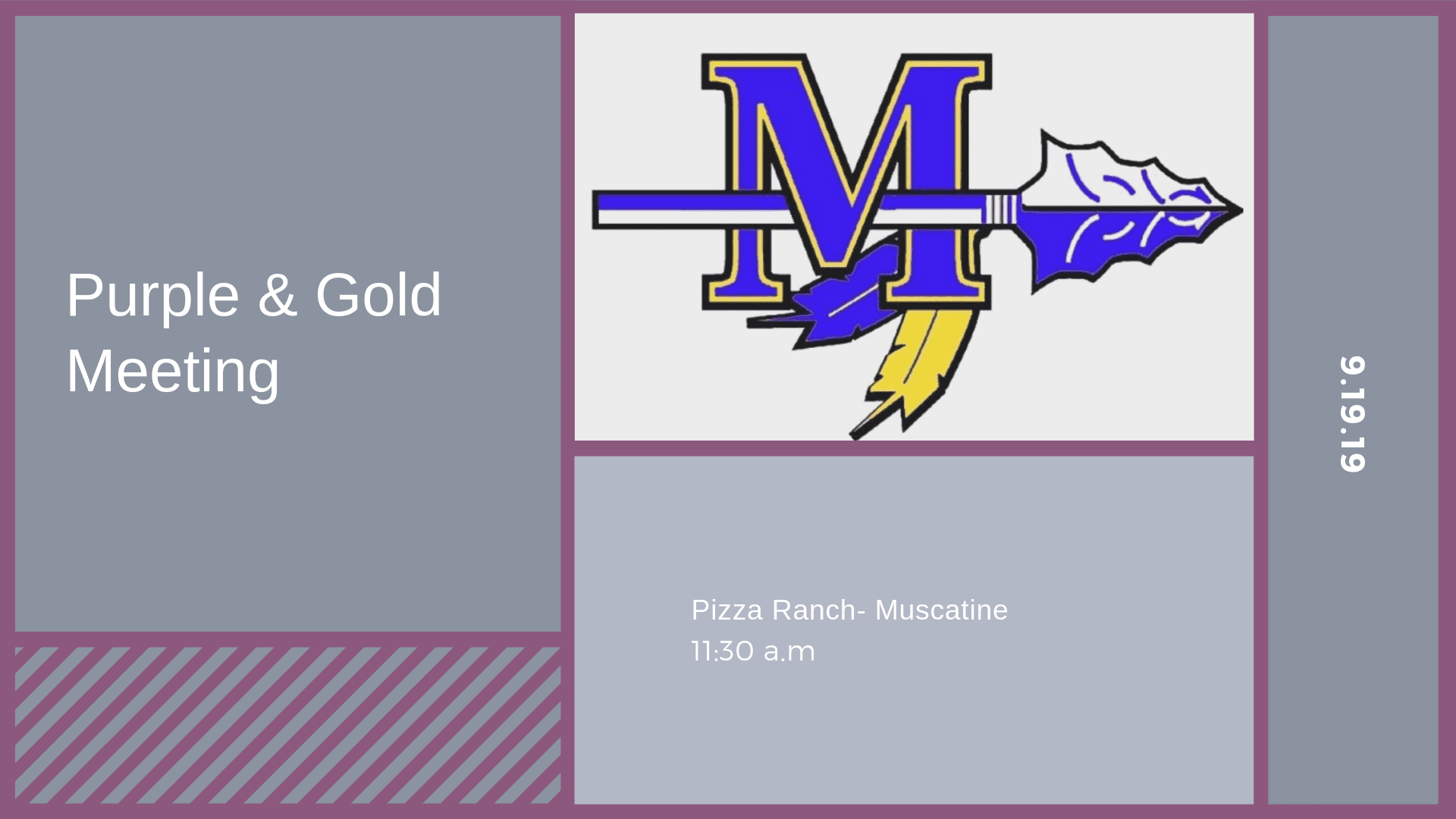Purple & Gold Meeting