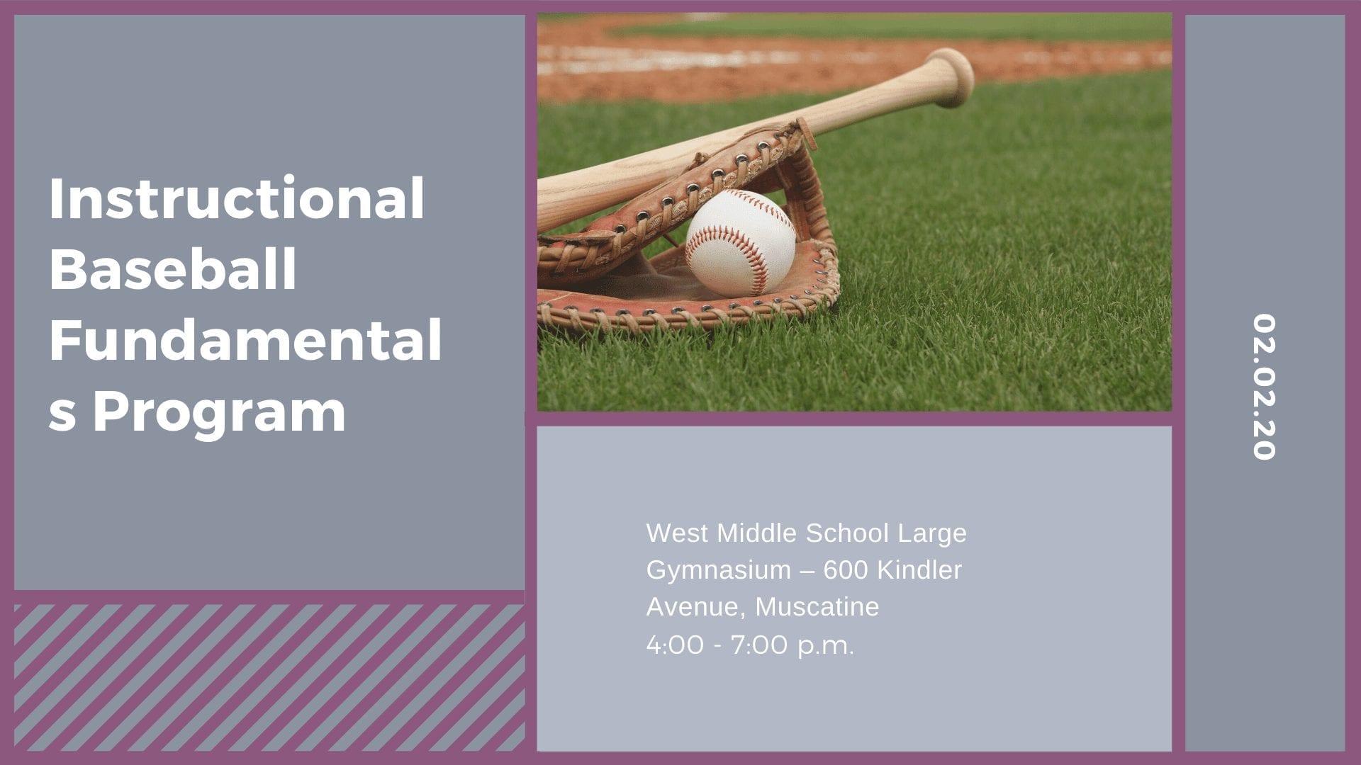Instructional Baseball Fundamentals Program