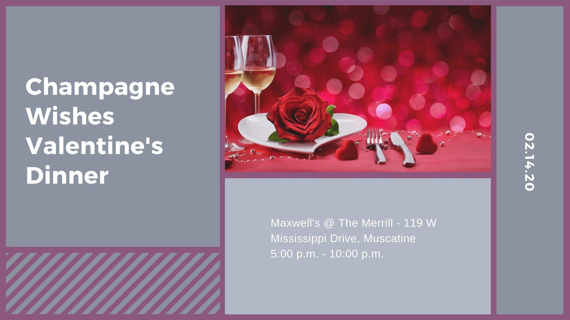 Champagne Wishes Valentine's Dinner