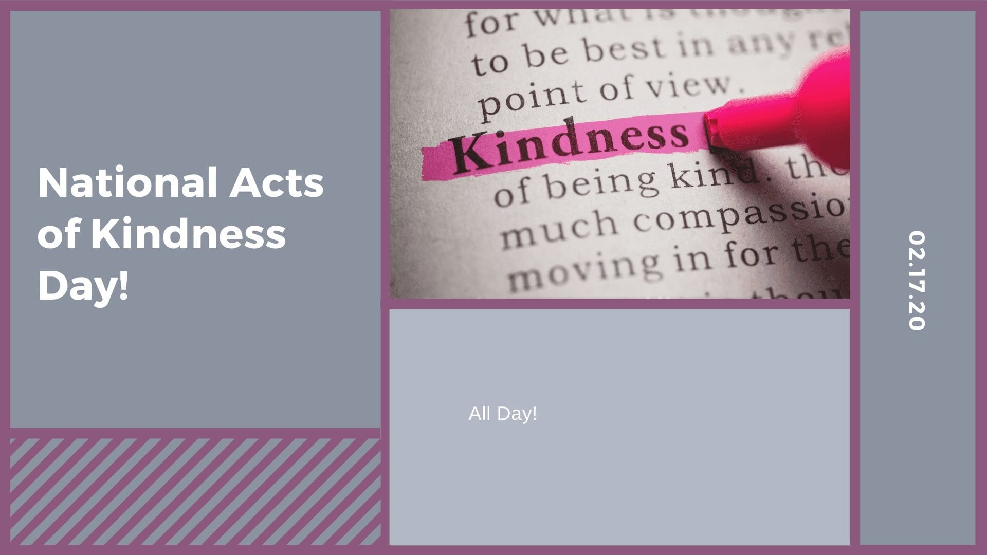 National Acts of Kindness Day!