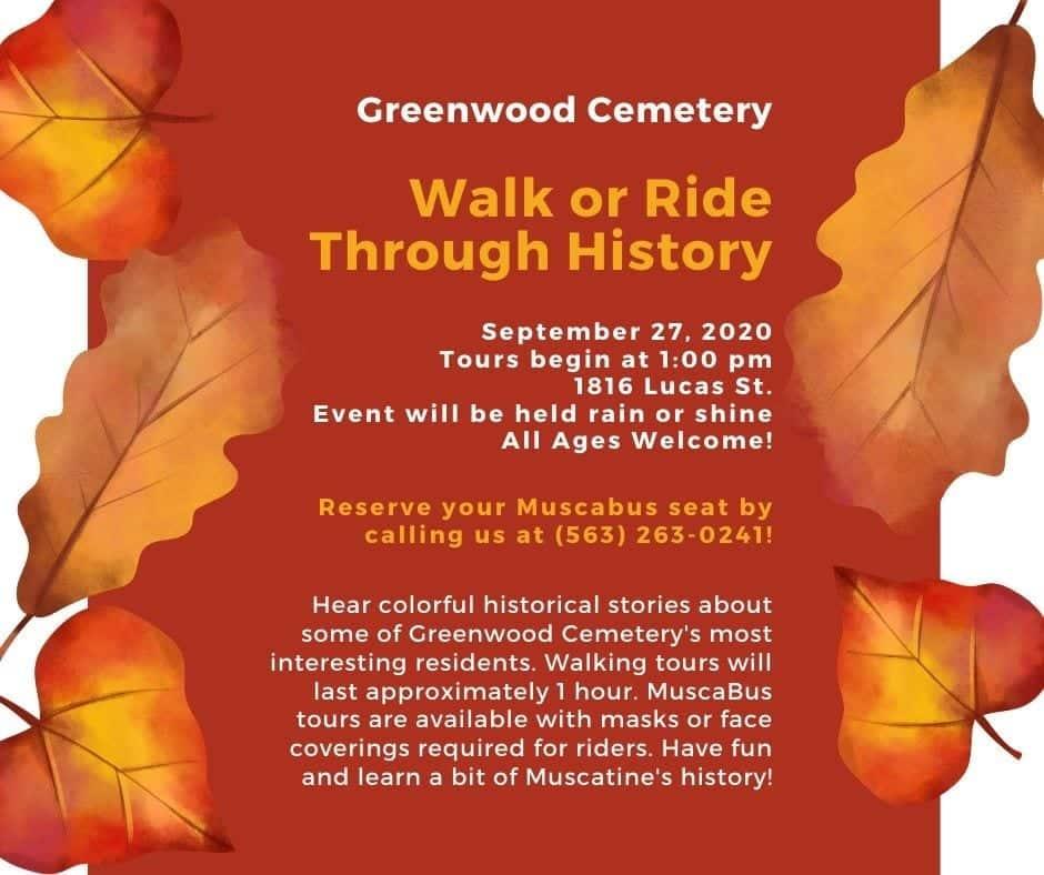 Muscatine Iowa Christmas Stroll 2020 Greenwood Cemetery Walk set for Sept. 27   rain or shine