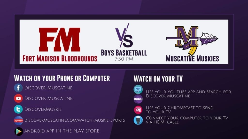 Muskie Boys Basketball vs Fort Madison LIVE Broadcast