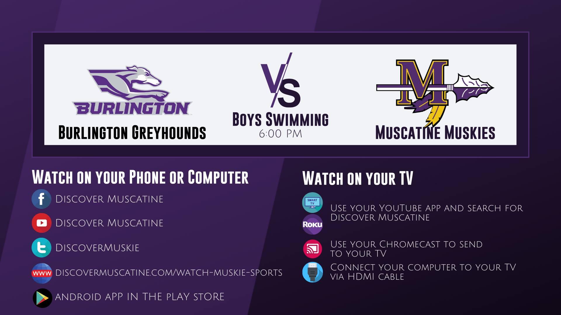 Muskie Boys Swimming vs Burlington LIVE Broadcast