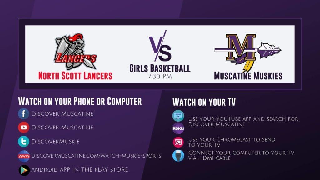 Muskie Girls Basketball vs North Scott LIVE Broadcast